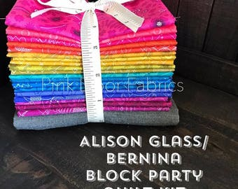 Pink Door Fabrics - Bernina Block Party Kit - Alison Glass for Andover Fabrics - 1 kit