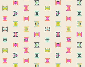 PRESALE - Spirit Animal - Arrowheads in Electric - Tula Pink for Free Spirit - PWTP043.ELECT - 1/2 Yard