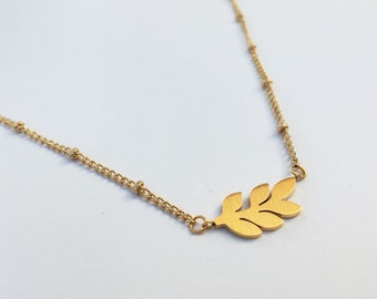 Leaf necklace gold , leaf necklace silver, gold leaf necklace,delicate gold necklace,simple gold necklace, silver leaf necklace