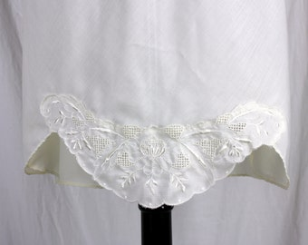 Vintage Ocello Half Slip with Lace White Large