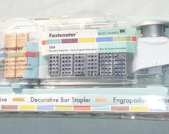 Fastenater Decorative Bar Stapler with Extra Decorative Staples