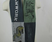 RESERVED  Upcycled T-Shirt Scarf:  Woman Power