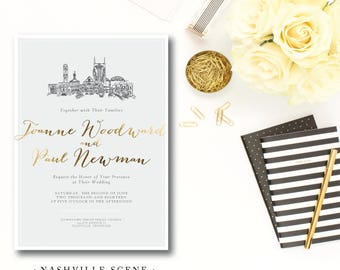 Nashville Scenes Wedding Invitations