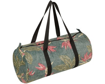 ALOHA gym bag with tropical print