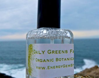 Daily Greens Face Mist. Heart Chakra.Enjoy this pure certified organic botanical water full of rejuvenation, restoration.