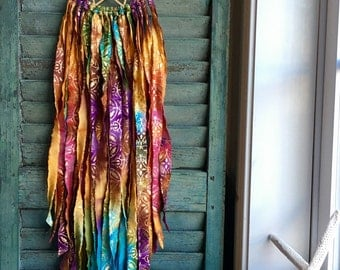 bohemian dream catcher -bali baby - vegan -bright and bold colors with gold - wingedwhimsy dreamcatcher - nursery decor - wedding