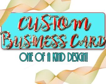 CUSTOM BUSINESS CARD Design, Business Cards, Custom Design, Business Card Design