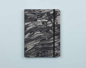 Lunar Marble Silver Foil Personalized Notebook/Sketchbook