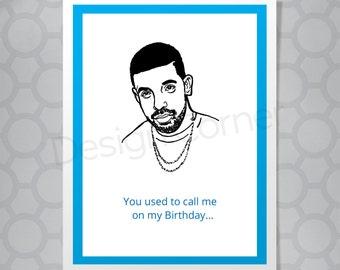 Funny Illustrated Drake Birthday Card
