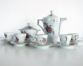 Art Deco French Antique Limoges Coffee Set or Service SPRING SALE