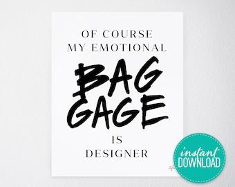 Emotional Baggage Printable