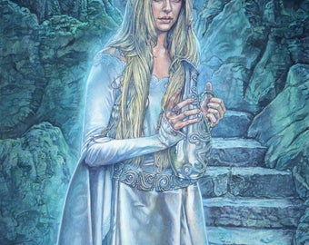 Tolkien print - Galadriel- The Lord of the Rings - unique gift for any Tolkien fan