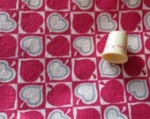 red and gray abstract leaf print vintage cotton fabric -- 35 wide by 2 3/4 yards