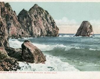 Santa Catalina Island Sugar Loaf RPPC Postcard 1905 - 1907 Unused