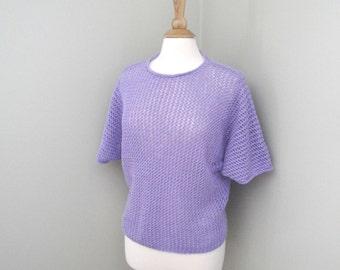 Dolman Sleeve Top Knitting Pattern, Lightweight Tee, Pullover Sweater, Teens & Women, Sport Weight, Cover Up Oversized Top