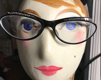Vintage 1950's Cat Eye Rx Glasses With Original Case