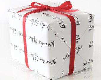 Gift Wrap - Wander Often Wonder Always® Wrapping Paper by Hello Small World