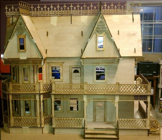 Scale One Inch, Nelly Wakefield Victorian Farmhouse, 1:12, SHIPS WORLDWIDE