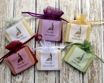 Red or White Wine Bridal Shower Soap Favors