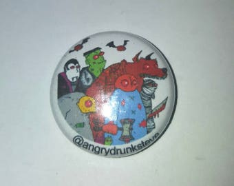 "1"" button or magnet. Trick or Treat"