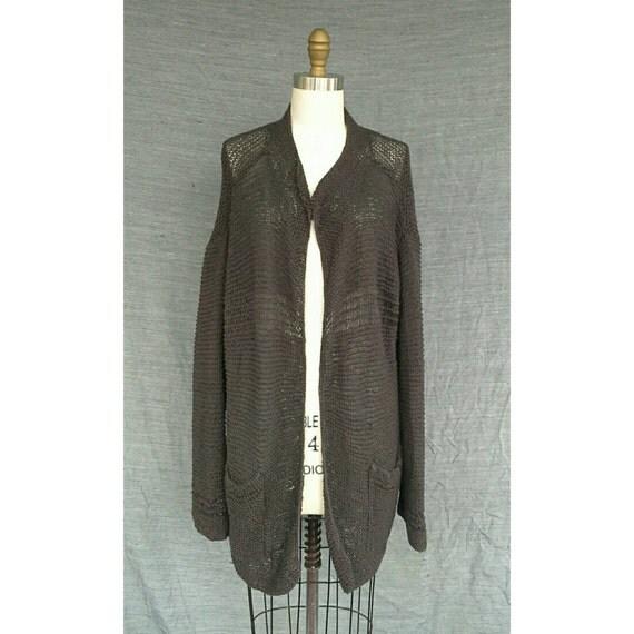 Vintage Issey Miyake Plantation Japan Burgundy Knitted Cardigan 1990s Sweater Paper Langelook