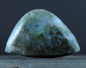 Free form    moss agate cabochon , Natural stone, Jewelry making supplies S7746