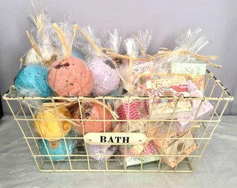 DOZEN ASSORTED FAVORS for bridal shower or baby shower: full sized soap favors and bath bomb favors