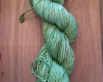 Merino Light Singles - fingering weight yarn - merino light singles yarn- hand dyed merino light single ply- Green