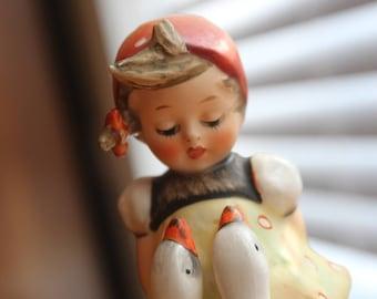 1960's Hummel/Goebel GOOSE GIRL TMK3 Figurine