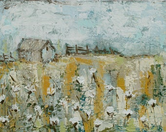 Cotton Farm Art Print | Cotton Barn | 8x10|11x14|16x20