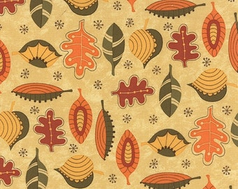 SALE Hello Fall Leaves by Sandy Gervais for Moda - One Yard - 17782 11