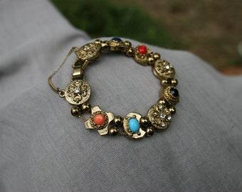 Vintage Slide Bracelet Costume Jewelry Slide Bracelet