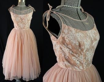 50s Emma Domb Dress, Prom, Cocktail, Vintage Wedding Dress