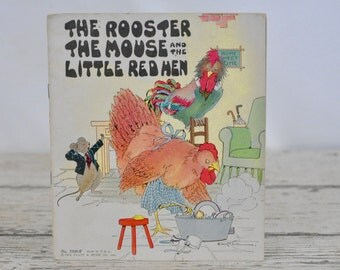 The Rooster The Mouse And The Little Red Hen Vintage Book Platt & Monk 1932
