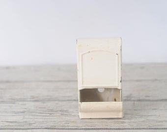 Vintage Metal Box Metal Wall Box Match Box Match Box Holder Chippy Paint