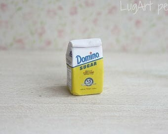 Packet of sugar for dollhouse scale.