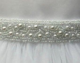 Chiffon Flower Belt Flower Girl Dress