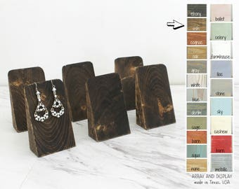 Wood Earring Displays SET, Earring Stands, Jewelry Displays, Earring Tree, Earring Holder, Choose the Color