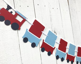Train Photo Banner/ NB to 12 month banner/ Customized in any color/ Party Decor/ 12 month Photo Banner