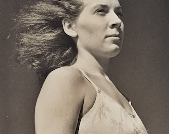 Large Original Vintage Photograph Beauty in the Wind