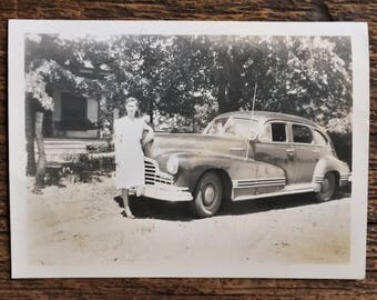 Original Vintage Photograph Bonnie Has Her Hair Braides