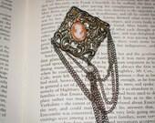 OOAK Vintage Jane Austen/ Regency Style Lady Cameo Brooch with Pearl