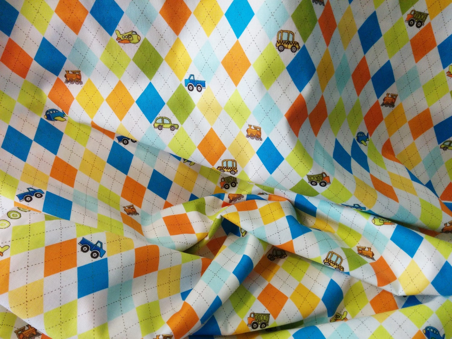Argyle Fabric, Quilt Weight Cotton, On the Go by Riley Blake ... : quilt weight cotton - Adamdwight.com