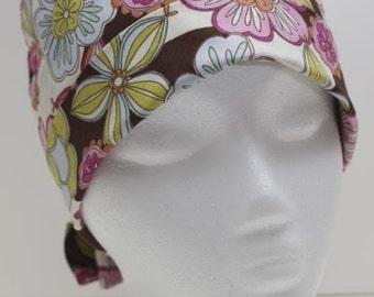 Ladies Surgical Scrub Hat - Chemo Cap - Pixie