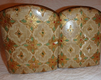Gold Gilt Bookends