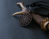RESERVED For Littlebeartess - Black Sun Pendant - Schwarze Sonne