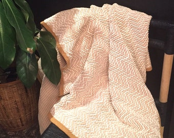 CLEARANCE!! Vintage Cotton Throw / Throw Blanket / Vintage Throw / Chevron Striped Throw Blanket / Boho Throw /