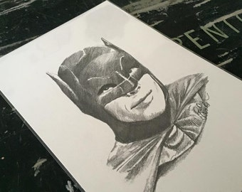 Adam West Batman Drawing Print