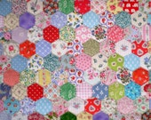 Custom Order for Cristina Lazaro: 200 Tacked Hexagons for Patchwork