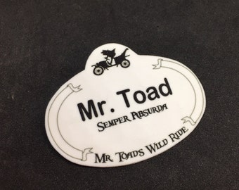 Mr. Toad's Wild Ride Inspired Name Tag